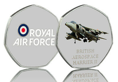 HARRIER JUMP JET Full Colour Silver Commemorative Albums ROYAL AIR FORCE, RAF