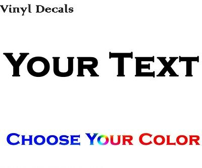 Custom Personalized Text Decal - Make Your Own Text Vinyl Decal Sticker