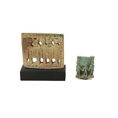 Lot of 2 Ancient Egyptian Faience Amulets c.700-30 BC.