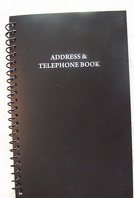 """New Address & Telephone Book Holds 400 Entries 16 per letter, Size is 8"""" X 5"""""""