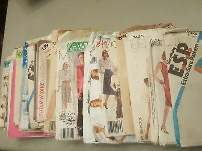 Vintage Sewing Patterns Lot of 23 from 1970s-1980s McCalls Simplicity Butterick