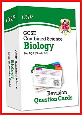 9-1 GCSE Combined Science: Biology AQA Revision Question Cards CGP GCSE Combined