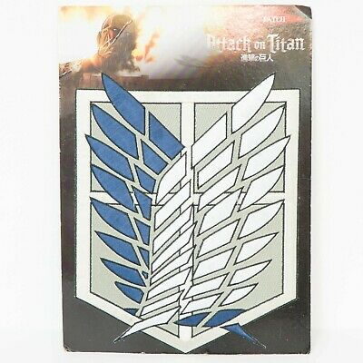 Attack on Titan Patch Cosplay Scouting Legion Recon Corps Badge Embroidery Big