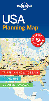 NEW Lonely Planet USA Planning Map (2017) Folded Sheet