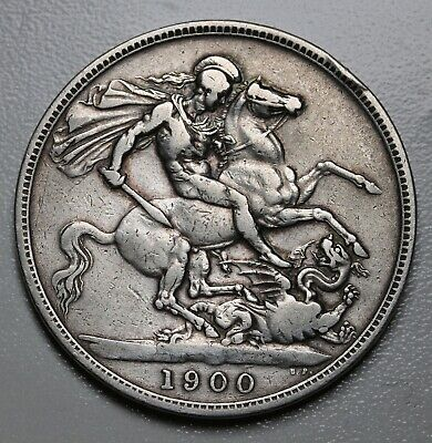 1900 LXIII UK Great Britain Silver Crown Coin KM# 783, Sp# 3937 Rare