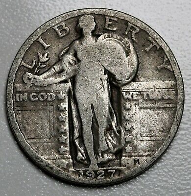 1927 US Standing Liberty Quarter Silver Coin KM# 145