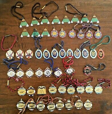 Group LOT of  54 x 1960's HORSE RACING MEMBERSHIP BADGES in Varying Condition