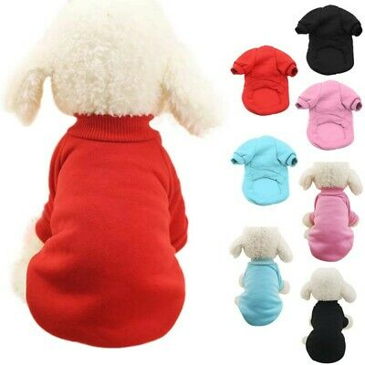 Small Dog Winter Warm Fleece Coat Clothes Puppy Sweater Jumper Jacket Apparel