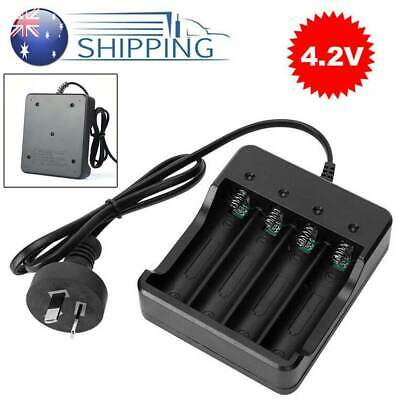 Universal 4.2V 4Slot Smart Charger Rechargeable Battery For 18650 Li-ion AU PLUG