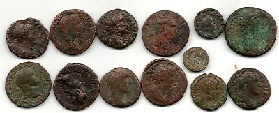 Ancient Roman coins DETECTOR FINDS 13 coins