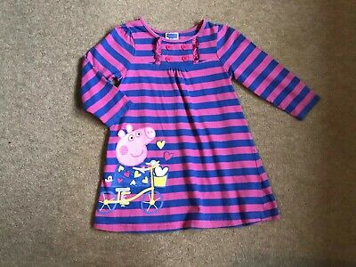 Girls Next Peppa Pig Fab Detailed  L/S Dress Age 2 - 3  Years