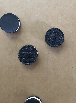 Oreo Biscuit Shaped Cabochon 13mm X 100