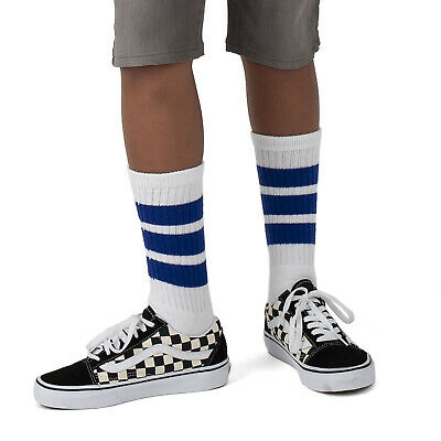 Skatersocks 14 Inch Children Tubesocks White Royal Tube Socks for Boys and Girls