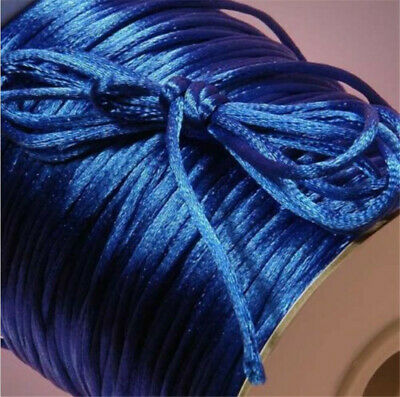 2mm 10yd Satin Rattail KUMIHIMO Braiding Cord Thickness Macrame Thread sapphire