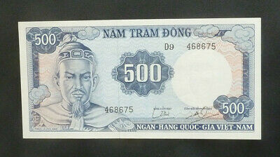 Vietnam (South) Banknote - 1966   500 Dong  Unc  (P23)  Scarce