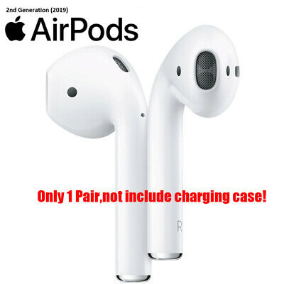 1 Pair Apple AirPods 2nd Generation Bluetooth Headphones earbuds Only UK