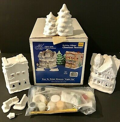 VTG California Creations Holiday Village CHESTNUT AVE to Paint Creative Crafts
