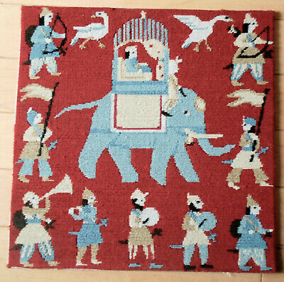 Ehrman Indian Elephant Completed Needlepoint Tapestry Anita Gunnet
