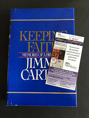 Signed Jimmy Carter Book Keeping Faith Autographed H/C JSA Certified