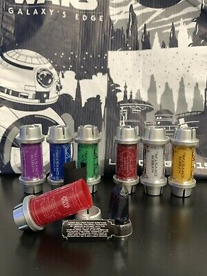 All 7 Disney Star Wars Galaxys Edge Kyber Crystals Set Black Obsidian Red White