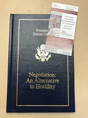 Signed Jimmy Carter Negotiation: An Alternative To Hostilely Autographed H/C
