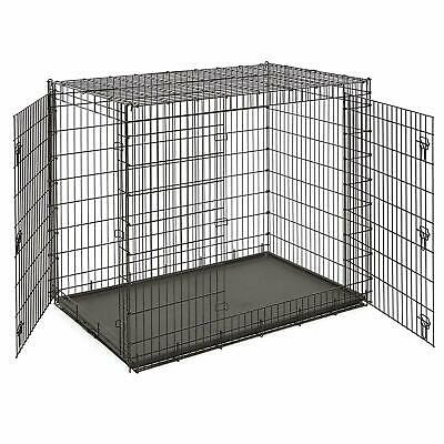 "Midwest/Frisco  XXL 54""x37x45"" Triple Latch 2 Door Dog Crate Easy Drop Pin 84lb"