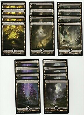 20x SWAMP Full Art Basic Land NM/LP MTG Magic the Gathering Battle For Zendikar