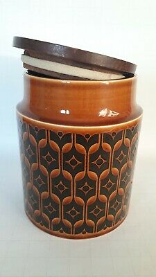 Vintage Hornsea Heirloom Storage Jar with Lid, Rubber Seal to Lid. 1975