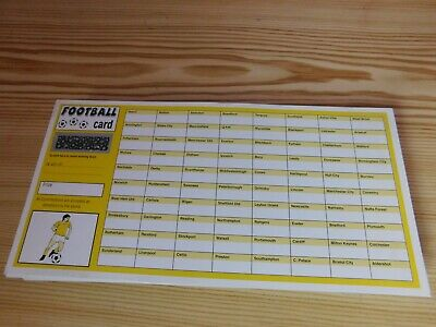 99 FOOTBALL FUNDRAISING SCRATCH CARDS 80 Teams CHARITY AUCTION