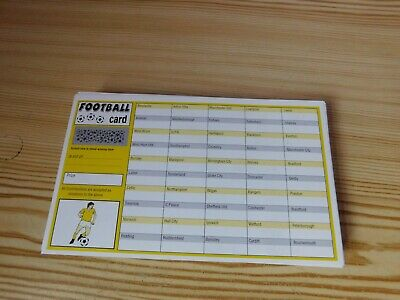 70 FOOTBALL FUNDRAISING SCRATCH CARDS 50 Teams CHARITY AUCTION