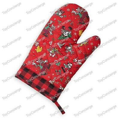 DISNEY PARKS CHRISTMAS OVEN MITT MICKEY MOUSE Friends YULETIDE Holiday NWT
