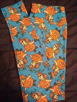 Lularoe os leggings Halloween pumpkin girl