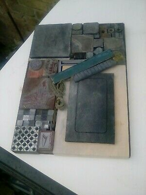 letterpress steel galley job lot