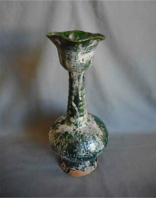 Antique China TOP QUALITY ORIGINAL LIAO DYNASTY DARK GREEN GLAZED VASE