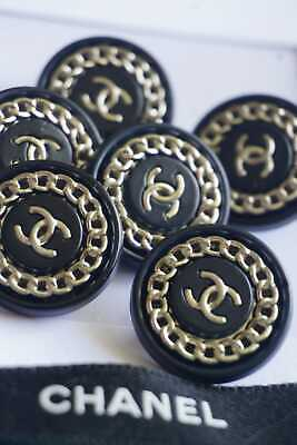 CHANEL BUTTONS  lot of  2 size  19  mm  0.8 inch Logo CC Metal ITALY BROOCH
