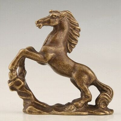 Unique Collection Lovely Gift Old Chinese Bronze Hand-Cast Horse Statue