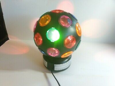 VINTAGE Plastic Disco Ball Spinning Multi-Color Strobe Light!