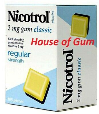 Nicotrol 2 mg CLASSIC 8 Boxes 840 Piece Uncoated Nicotine Quit Smoking Gum 12/21