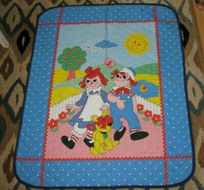 Raggedy Ann and Andy Raggs Dog Infant Baby Quilt Comforter Blanket Unisex