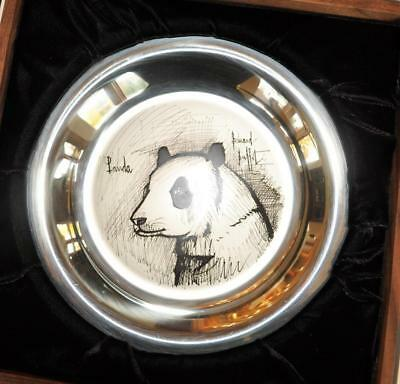 Franklin Mint 1974 Bernard Buffet  Panda Sterling Silver Plate Limited Edition
