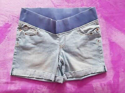 Next maternity size 12 under bump denim shorts - Light blue