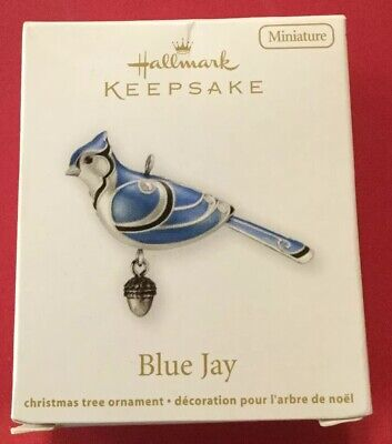 Hallmark The Beauty of Birds Blue Jay Miniature Ornament (2012) QX9014 NIB