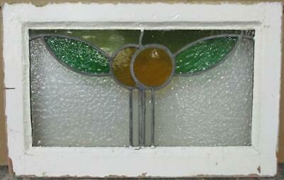 """OLD ENGLISH LEADED STAINED GLASS WINDOW Cute Pair of Oranges 21.25"""" x 13.5"""""""