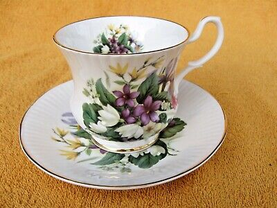 Royal Victorian Tea Cup And Saucer - Fine Bone China - Made In England