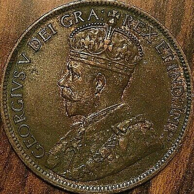 1919 CANADA LARGE CENT PENNY LARGE 1 CENT COIN - Excellent example!