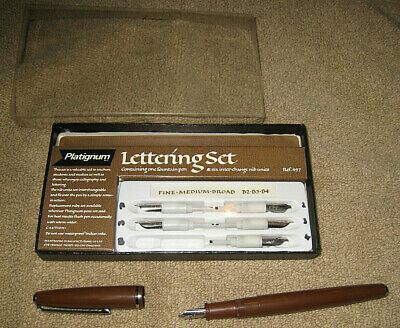 Platignum Lettering Set - Pen Calligraphy - only used one tip