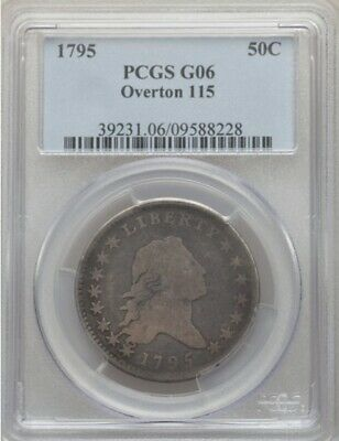 1795 Flowing Hair Half Dollar 50C O-115 Pcgs G 6