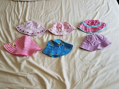 Bulk 6 Girl Toddler Size 1 - 3 Summer Hat RRP$200 Mostly bought from Target