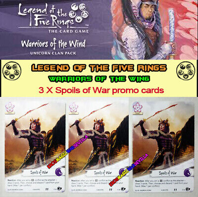 LEGEND OF THE FIVE RINGS L5R LCG - WARRIORS OF THE WING - 3 Spoils of War promo