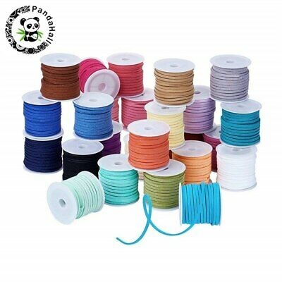 3mm 4mm 5mm 5m/roll Mixed Color Faux Suede Cord DIY Lace Leather Rope Thread